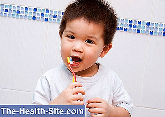 Brush your teeth with baby and toddler